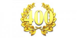 400 fourhundred number laurel wreath